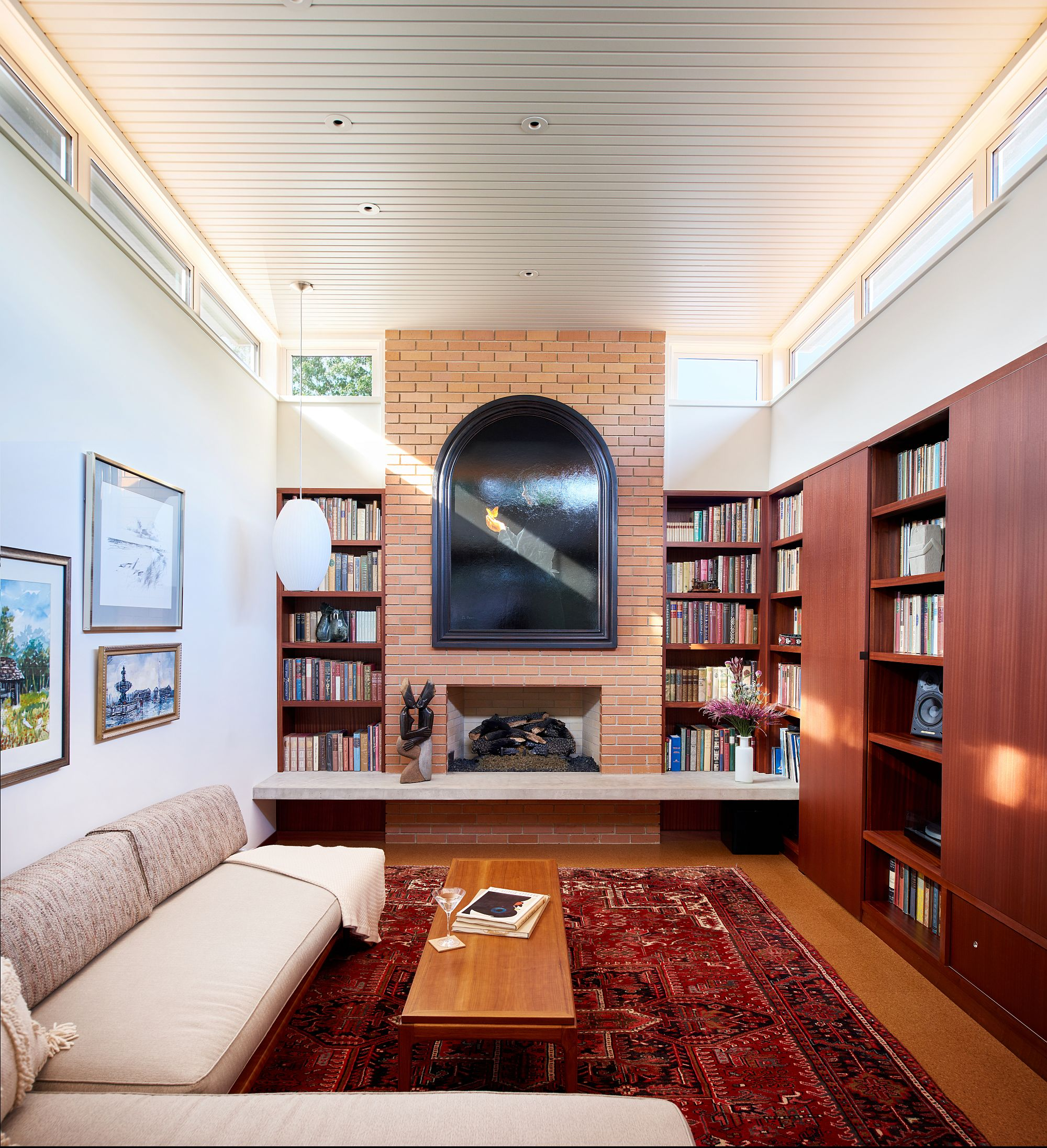 Smart use of Clerestory windows in the living and family rooms improves the ventilation indoors