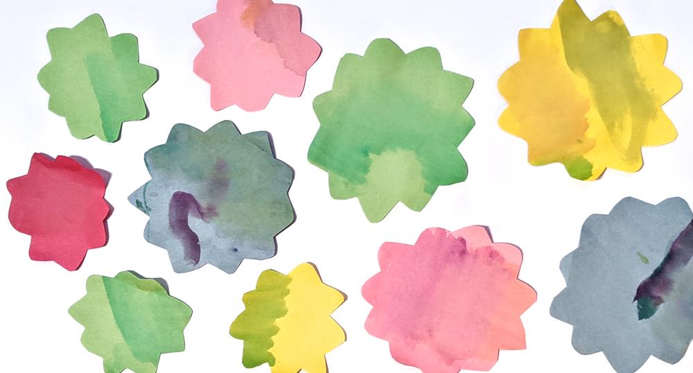 Watercolor flower mural