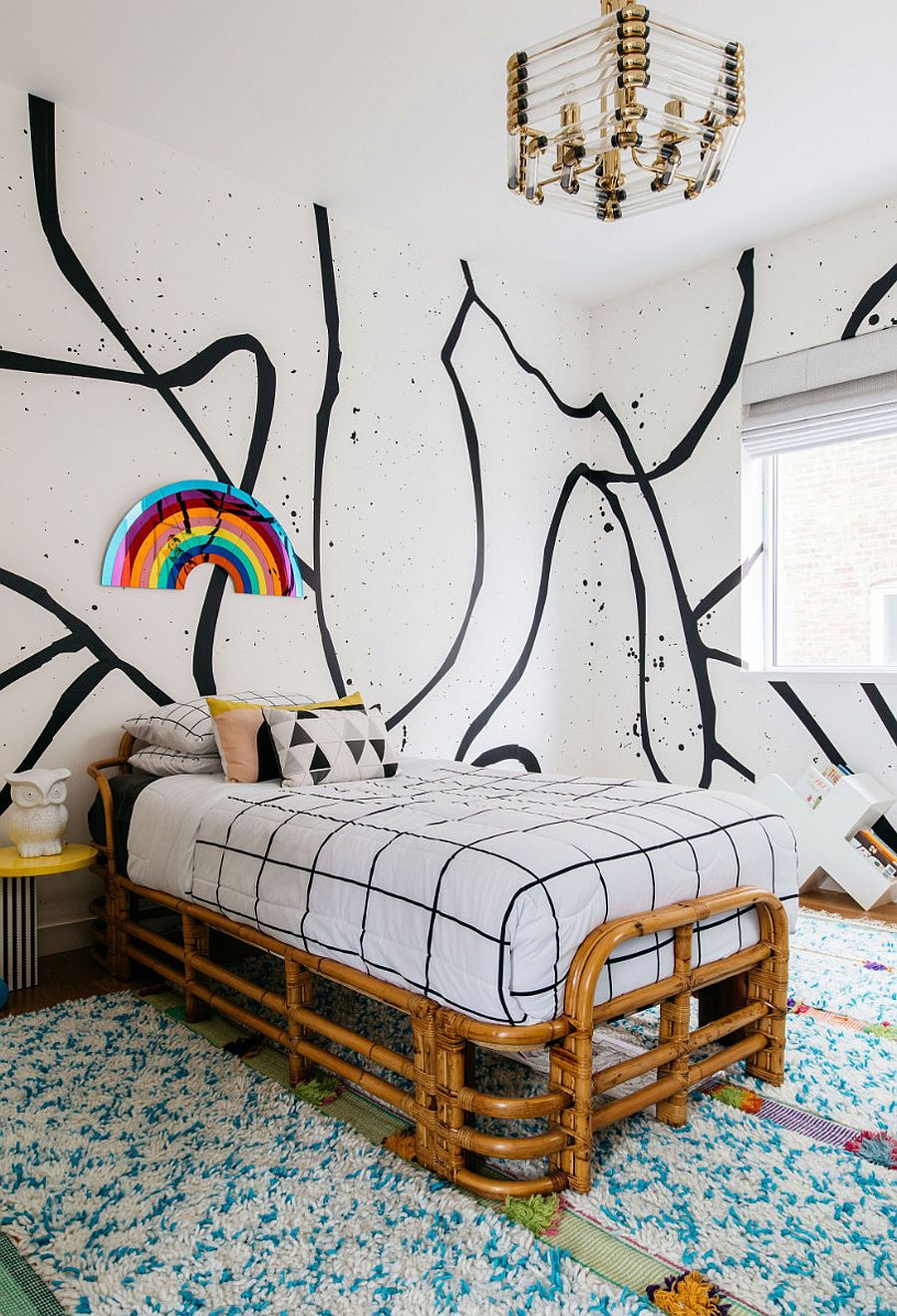 Adding trendy accents to the gender-neutral bedroom can turn it into a fabulous girls' room