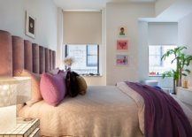 Bedding-headboard-and-wall-art-pieces-bring-both-color-and-contrast-to-the-small-bedroom-in-white-46399-217x155