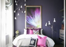 Concrete-ceiling-and-exposed-duct-pipes-bring-industrial-beauty-to-this-colorful-bedroom-in-violet-64727-217x155