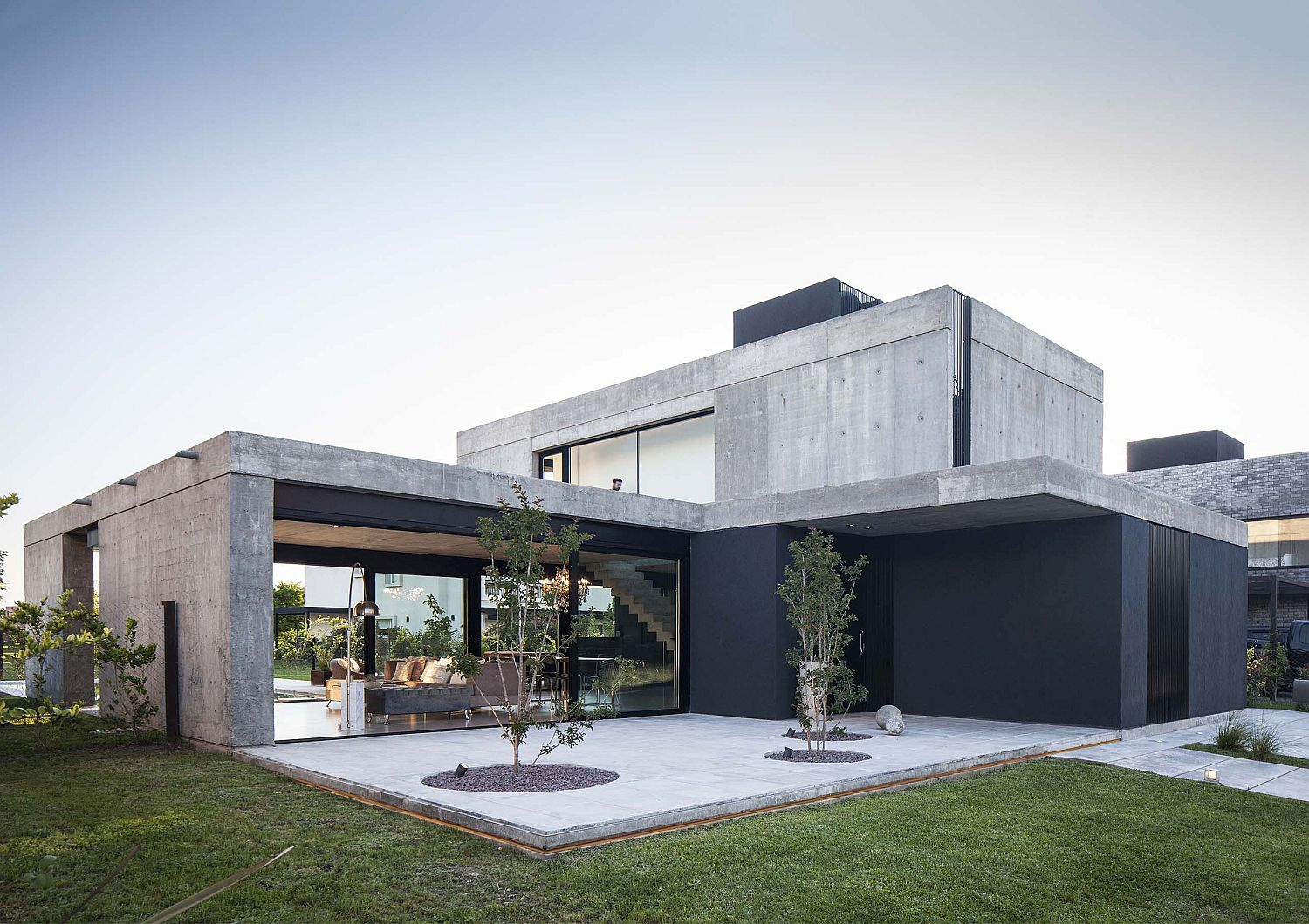 Contemporary home designed for a couple in Buenos Aires with plenty space outdoors