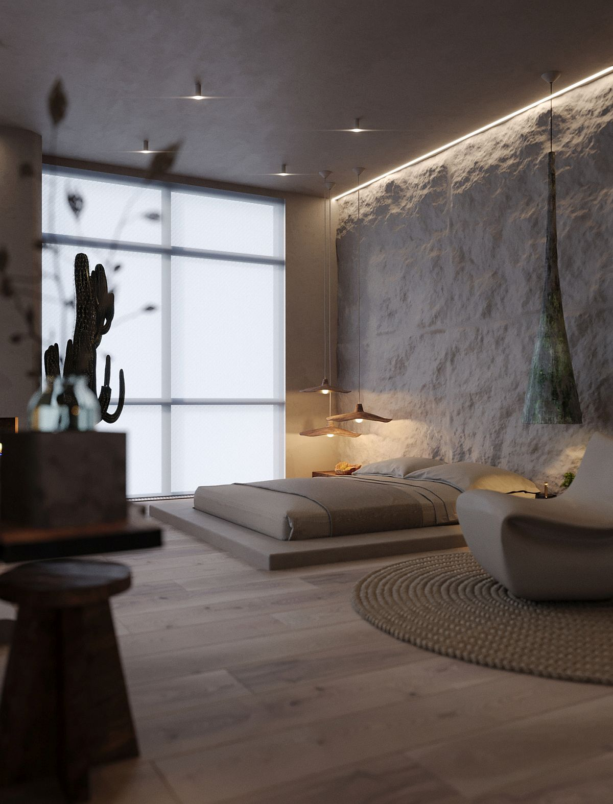 Different finishes and materials laced with modernity give the apartment a modern rustic appeal