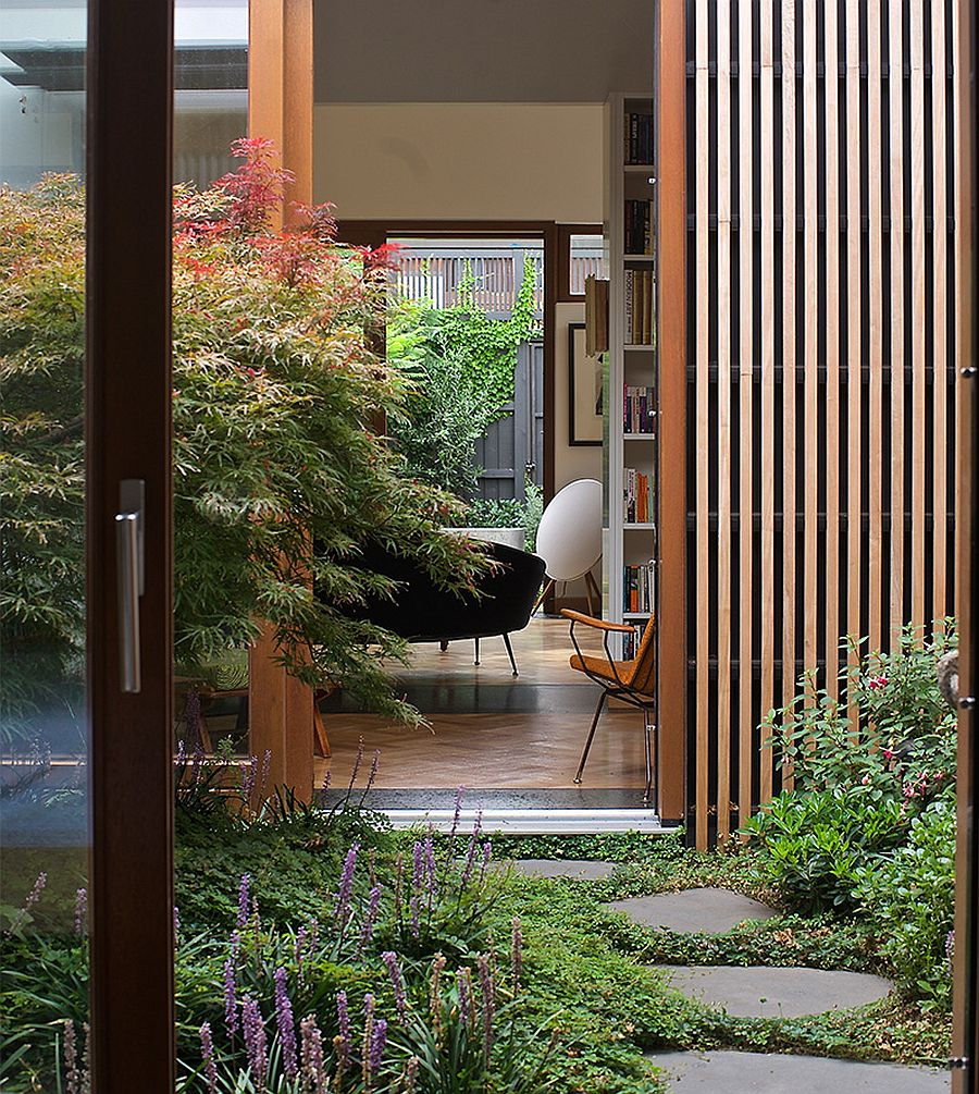 Fabulous garden becomes a part of the home floor plan as it connects the different space
