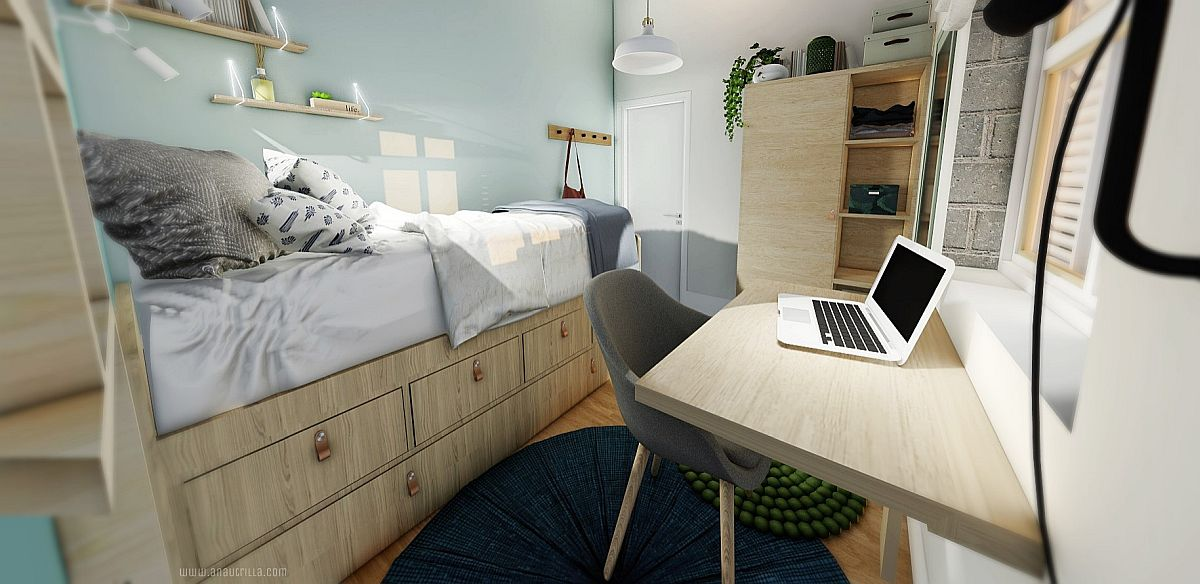 Finding-space-for-workspace-wardrobe-and-additional-storage-units-in-the-tiny-industrial-bedroom-78950