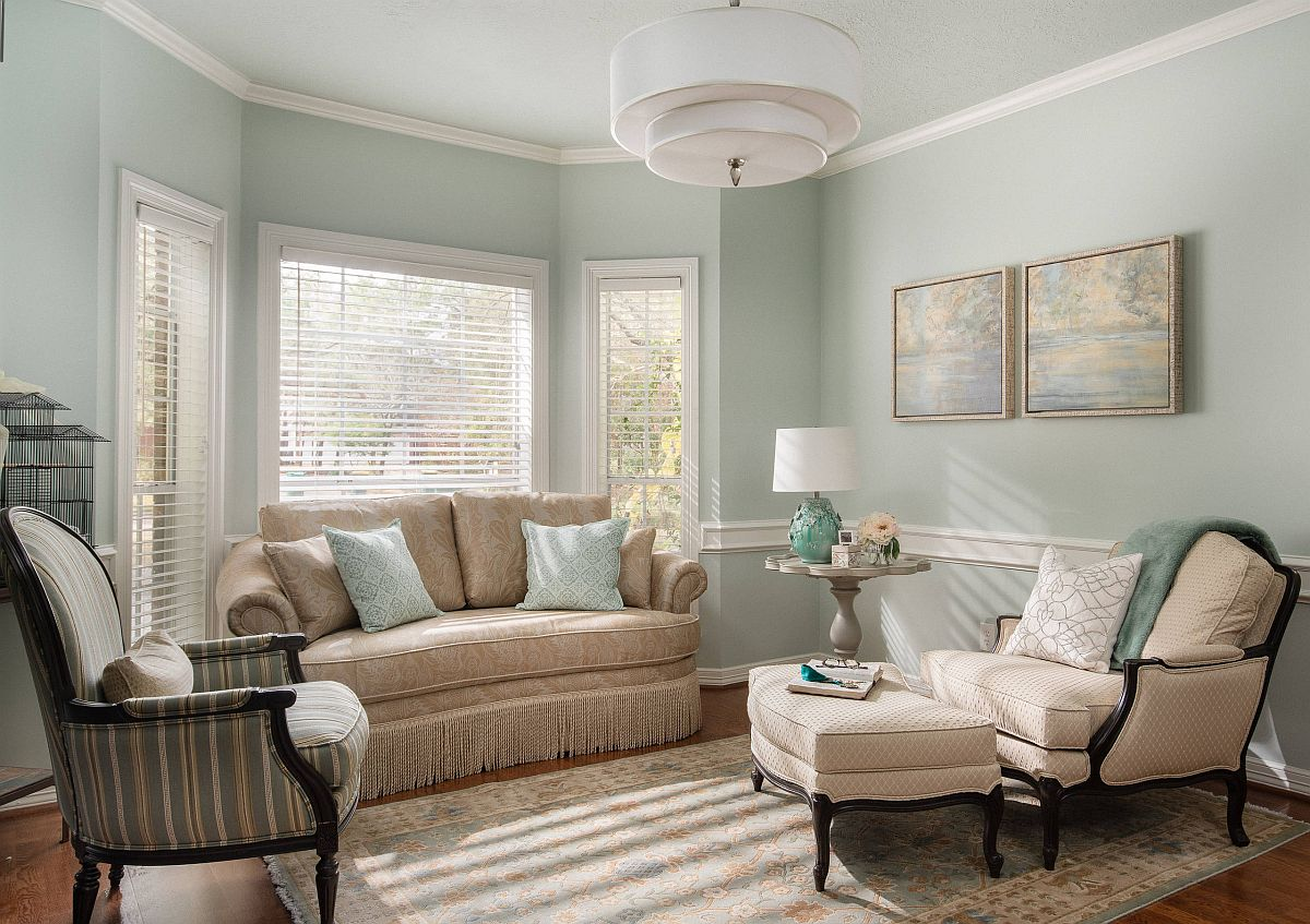 Finding the right shade of mint green for your living room walls