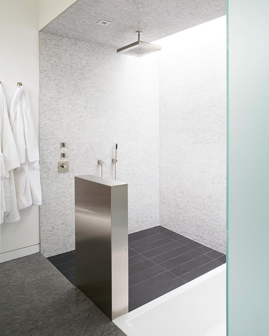Finding the right spot for your rainfall showerhead in the bathroom