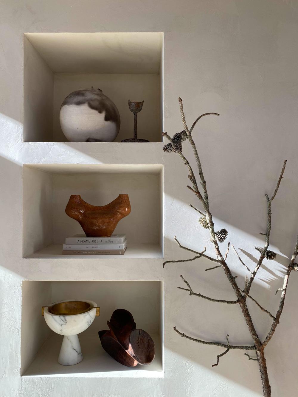 Foraged branch interior design idea