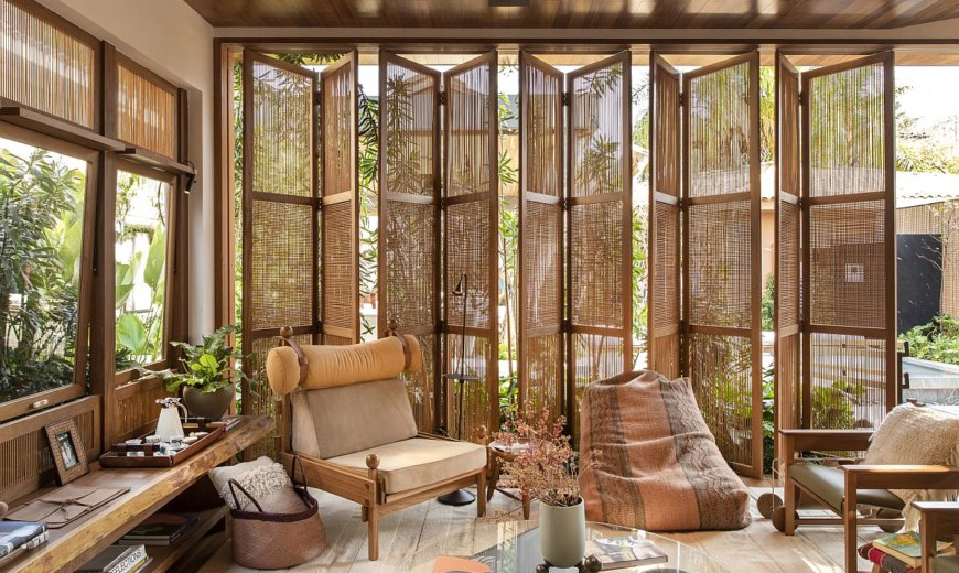 Custom Solutions: Awesome Family Area Draped in Wood Offers a Green Refuge