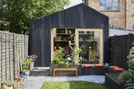Space-Savvy Garden Studio and Office in London Charms with Adaptable Design
