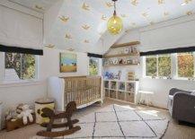 Gender-neutral-modern-farmhouse-nursery-in-white-with-wallpaper-on-walls-19216-217x155
