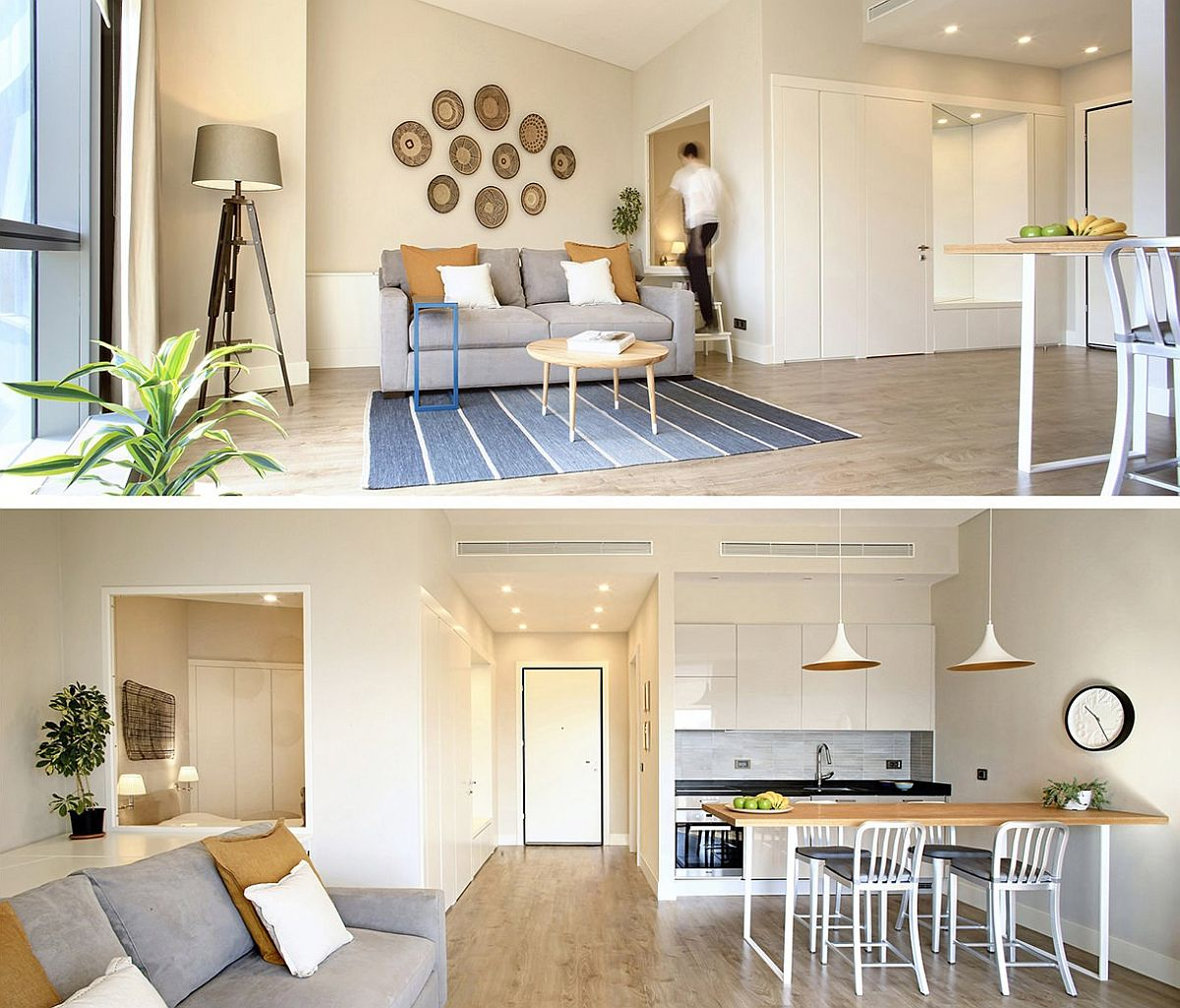 Giving the tiny apartment a fabulous modern makeover with smart kitchen and open living area