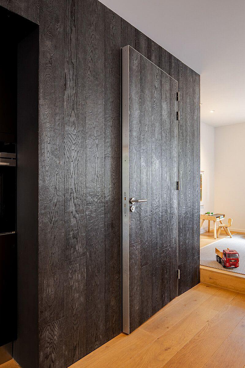 Interior of the house with Shou Sugi Ban wood finish by Hakwood