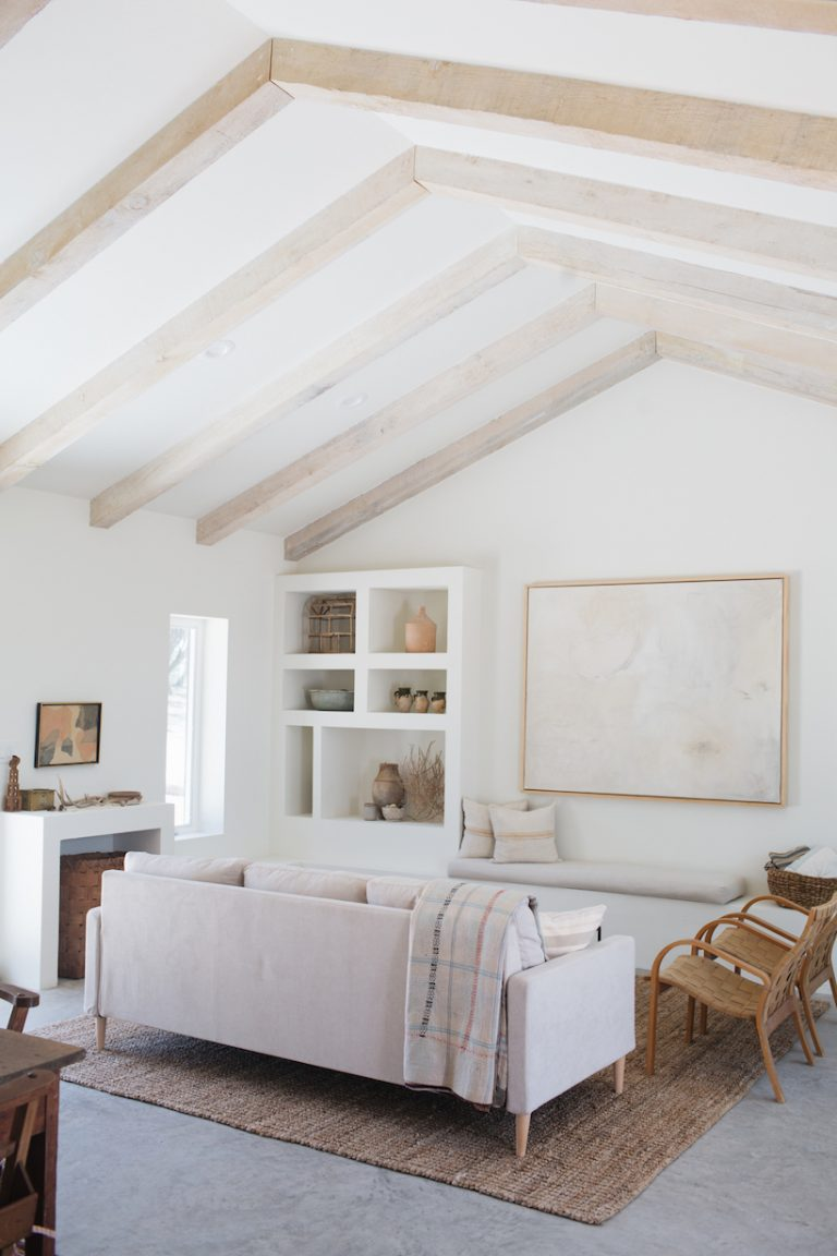 Living room of a beautifully desiged modern country cottage