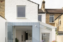 Stylish Striped Rear Extension of Victorian Terrace House Feels Cheerful and Modern