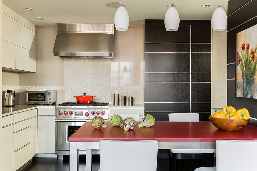 New, revamped interior of the house with a kitchen that is functional and easy on the eyes