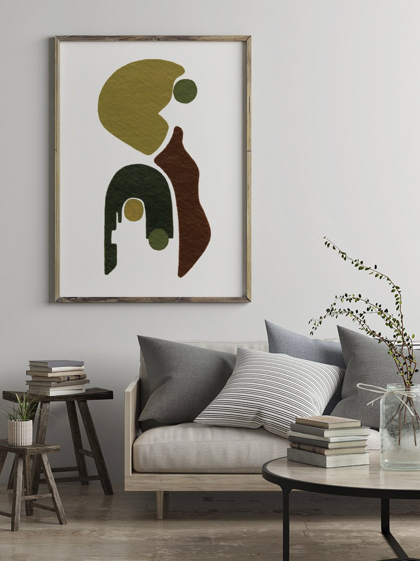 Poster from Project Nord in a cozy minimalist room