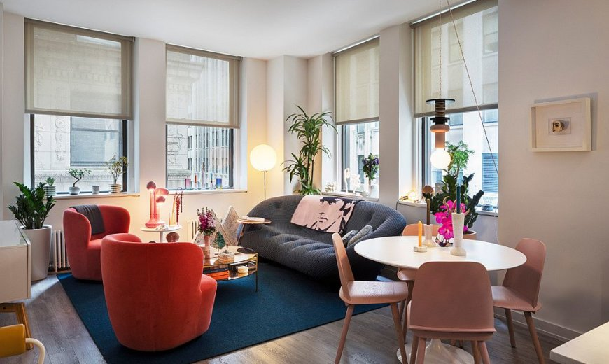 Downtown NYC Apartment Gets a Refreshing and Colorful Makeover