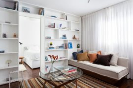 Ultra-Small 30 Sqm Studio Apartment in Brazil Gets a Makeover in White