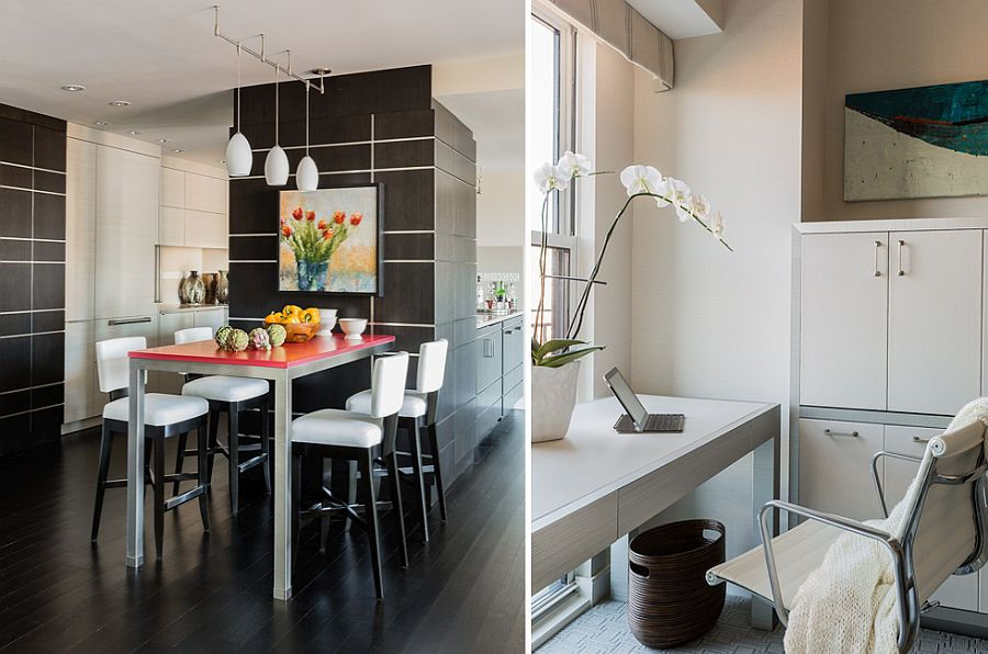 Space-savvy design of the remodeled home makes an impact while reducing clutter