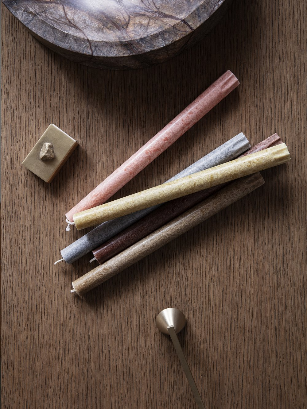 Textured candles from ferm LIVING
