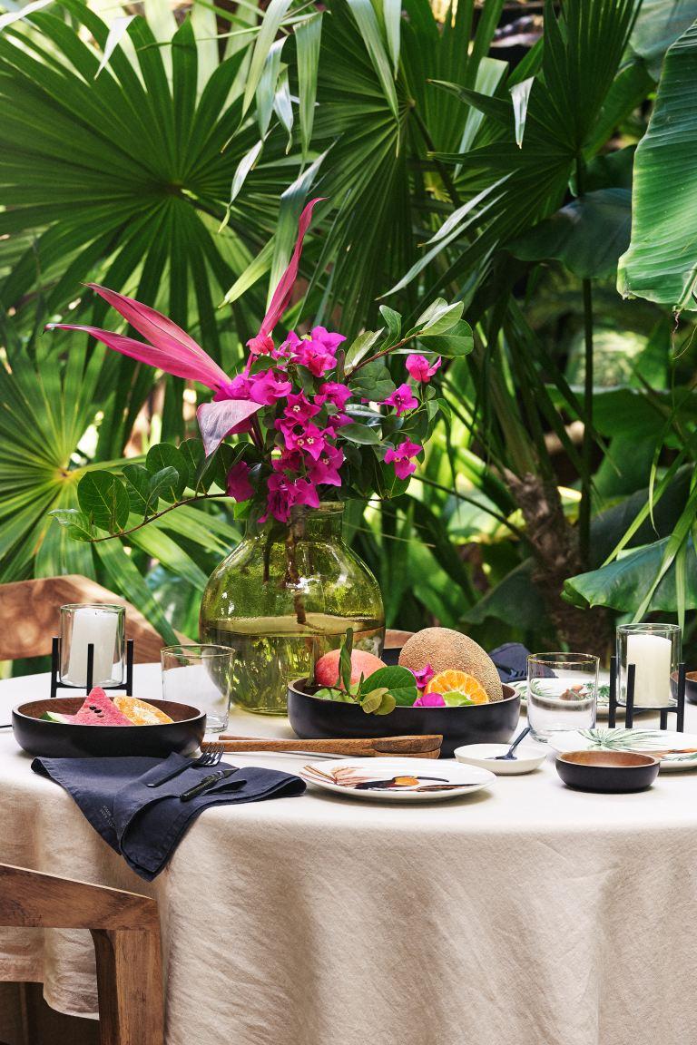 Tropical foliage centerpiece