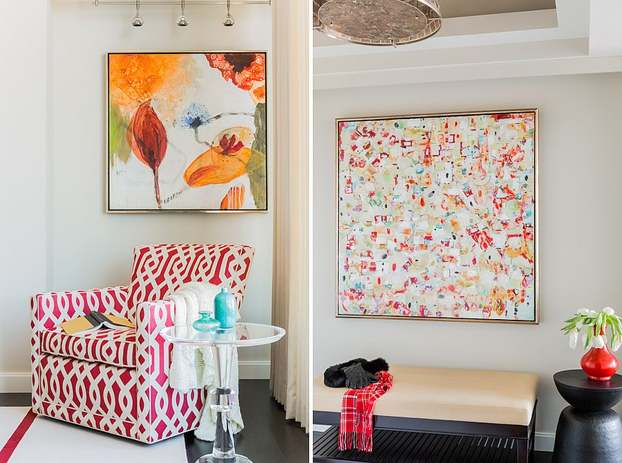 Using bright wall art pieces to make a big visual impact in the modern home