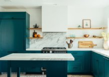 White-marble-finsihes-combined-with-bright-teal-cabinets-inside-the-gorgeou-modern-kitchen-29767-217x155