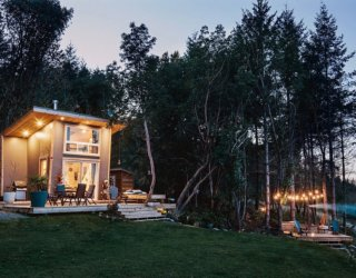 Tiny 100 Sq Ft Wood Cabin on Galiano Island Enthralls with Spectacular Views