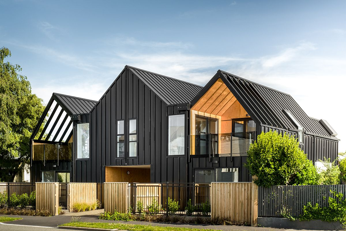 Wood and steel building in New Zealand holds four space-savvy aparment units