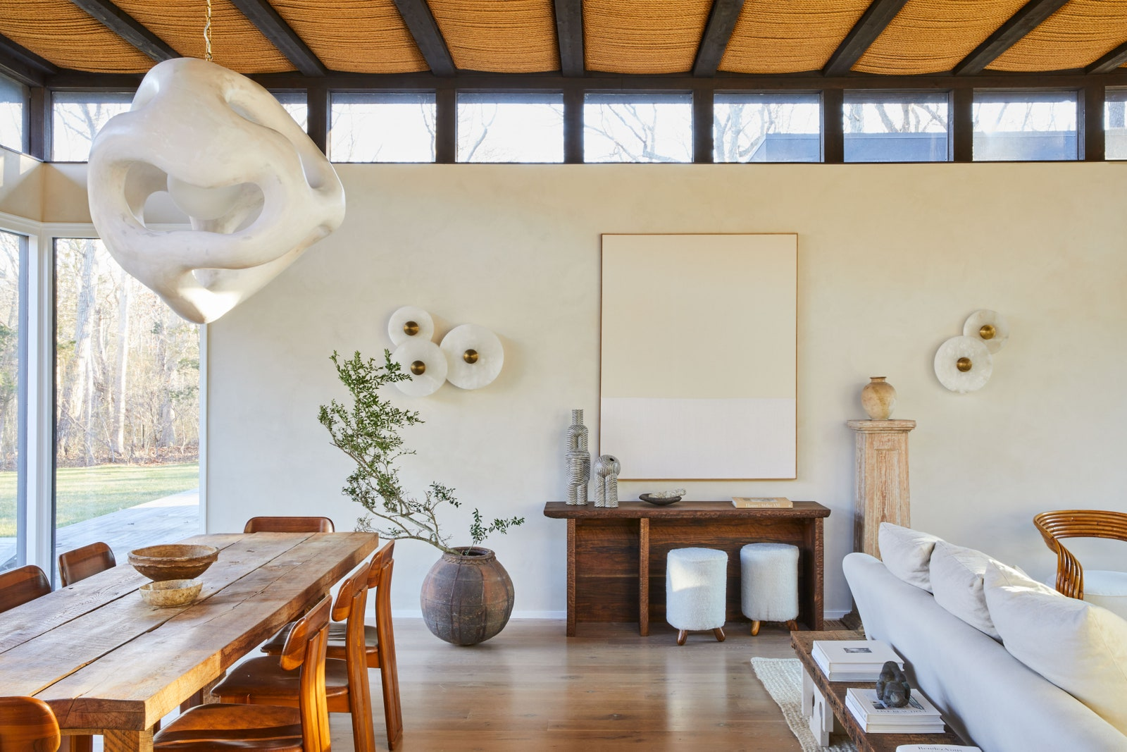 Amagansett dining room of Athena Calderone