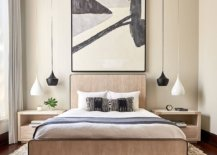 Black-and-white-Tom-Dixon-pendant-lights-are-used-elegantly-in-this-contemporary-bedroom-54969-217x155