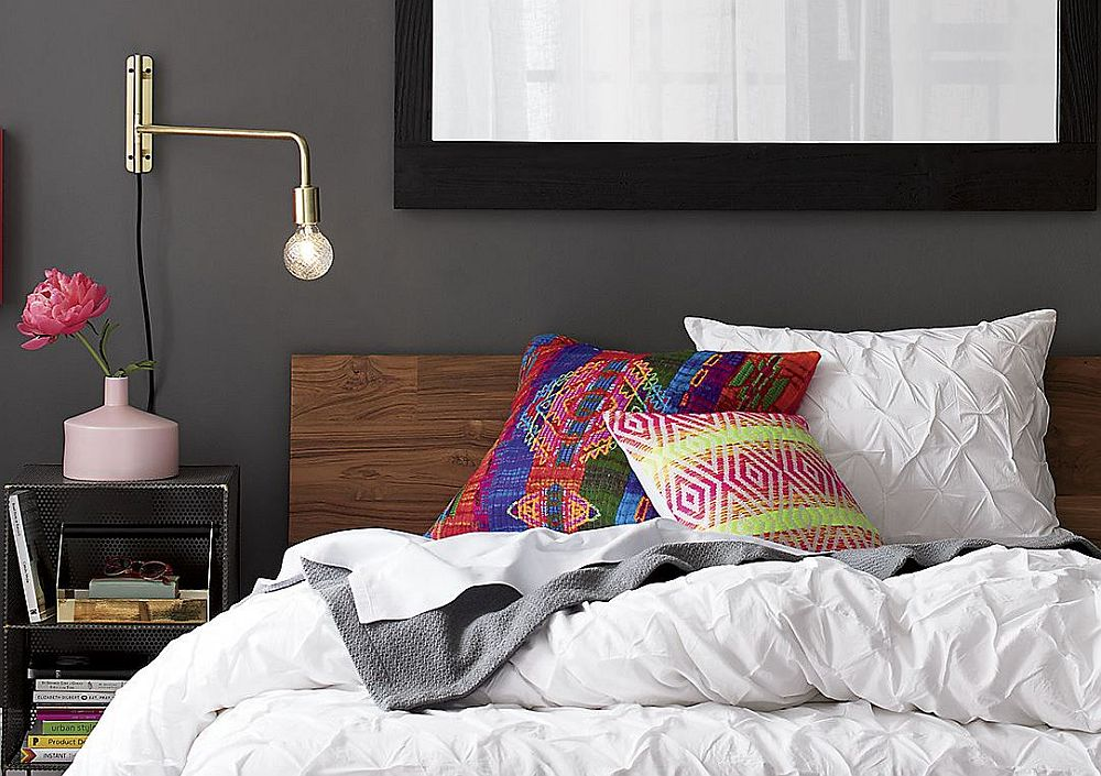 Bring in new accent pillows into the bedroom for a setting that is much more cheerful