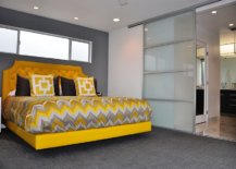 Charming-and-stylish-bedframe-in-yellow-grabs-your-attention-in-this-mdoern-gray-bedroom-87902-217x155