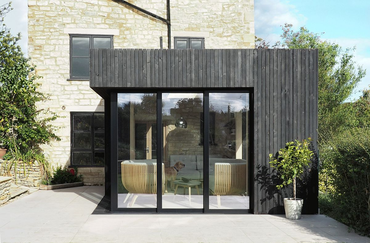 Classic Cotswold stone walls make a big impact this cottage extension