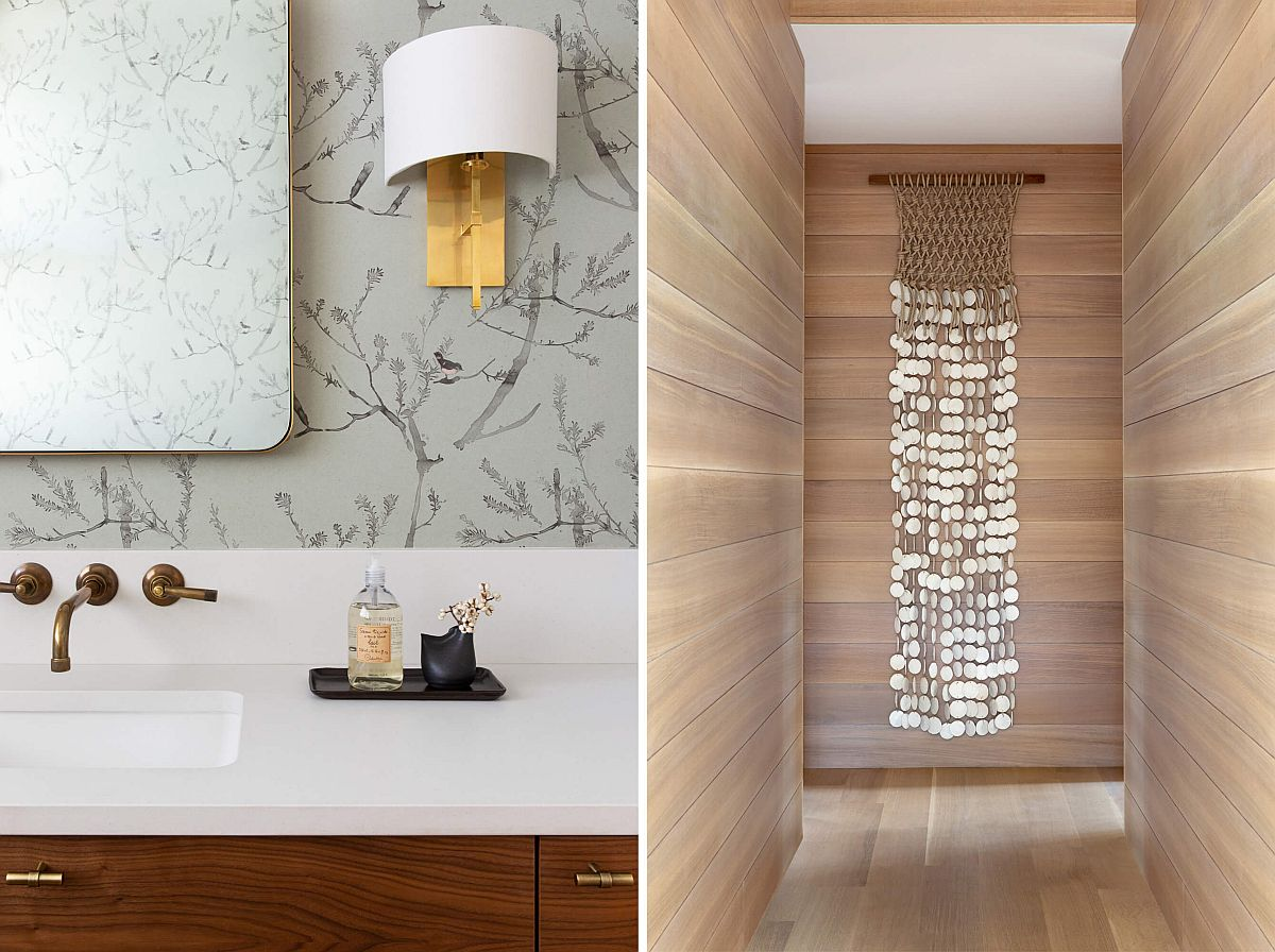 Closer look at the ingenious lighting fixtures used inside the Texas home