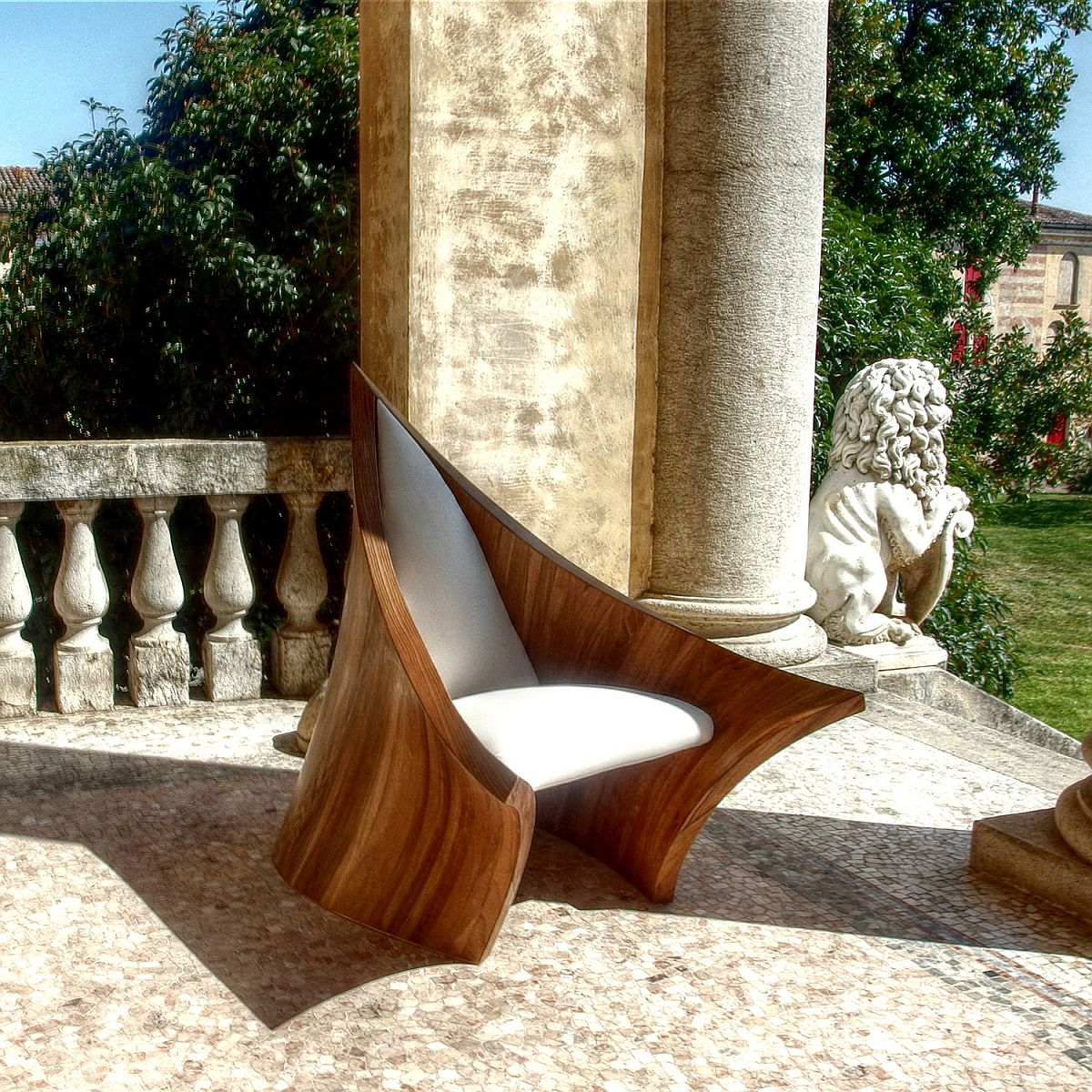 Combining ancient and modern design with the sculptural New Medieval Armchair