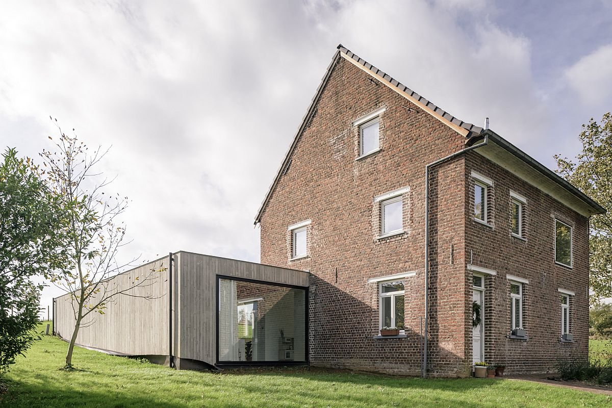Creating a contemporary extension to a traditional home nestled in greenery