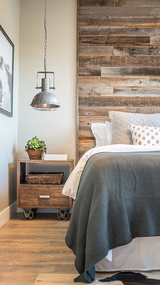 Decorating the bedside table and finding the right pendant in the industrial farmhouse style bedroom with also rustic touches thrown into the mix!