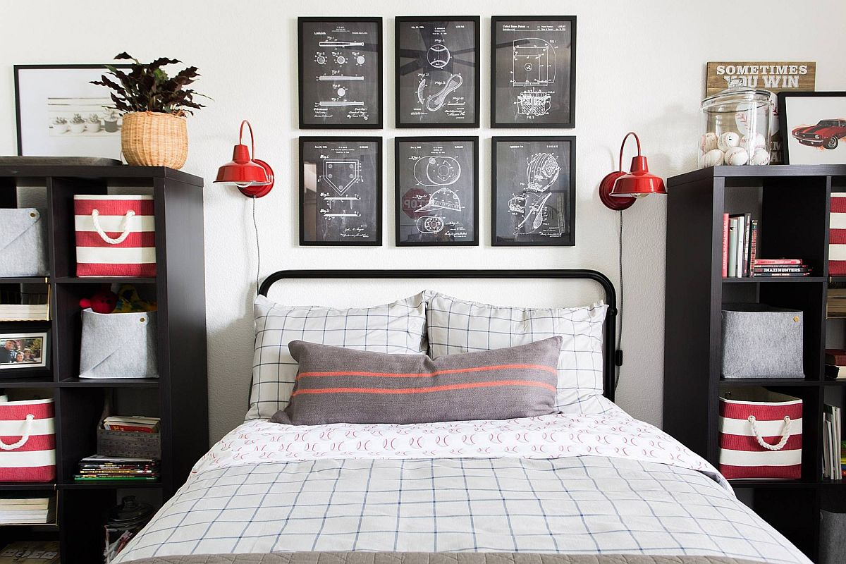 Fabulous-teen-boys-bedroom-with-lovely-framed-diagrams-that-accentuate-the-black-and-white-color-scheme-of-the-room-89173