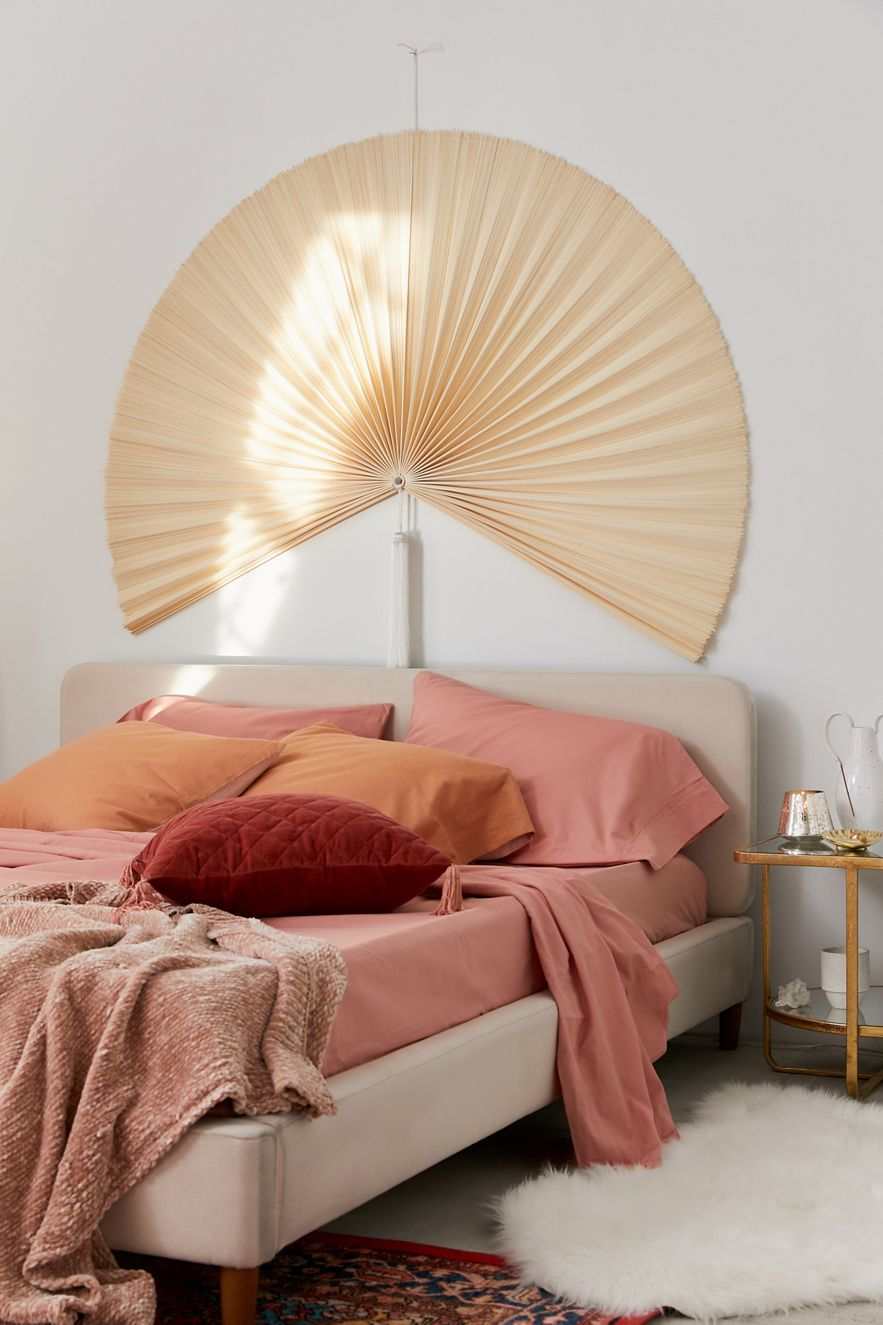 Fan headboard can double as wall art