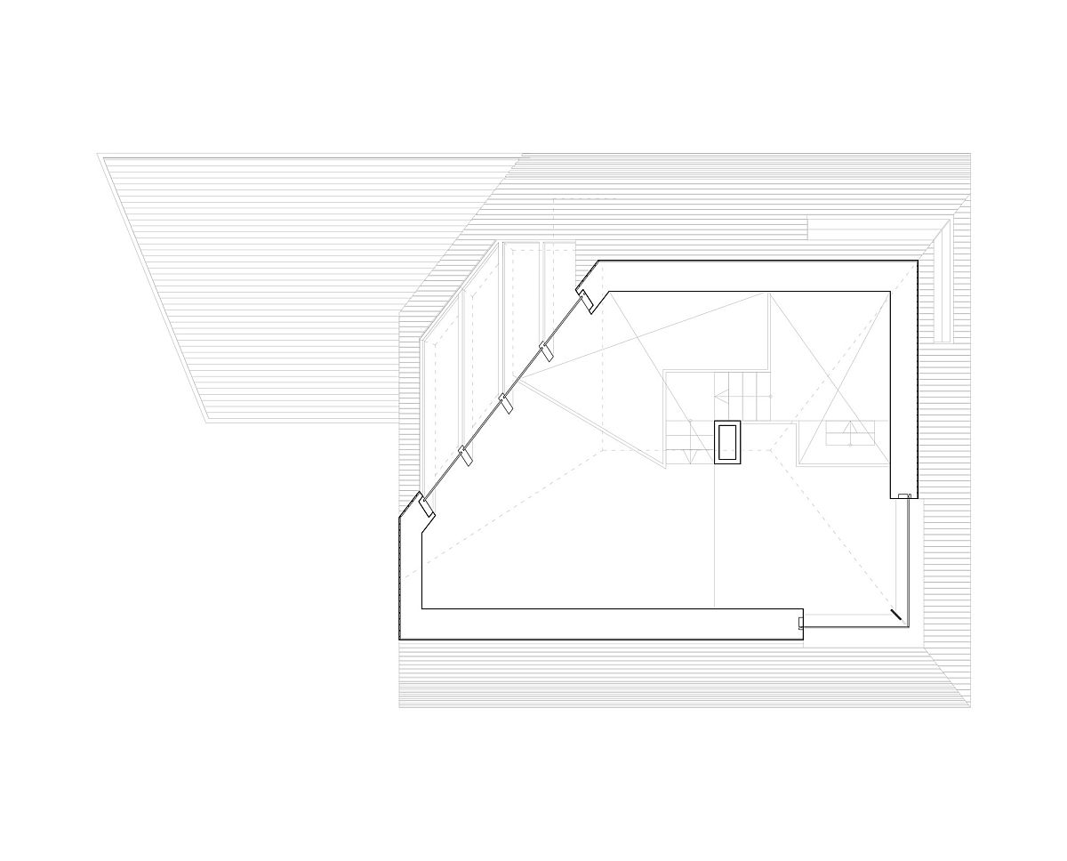 First floor plan of the Dune House in Netherlands