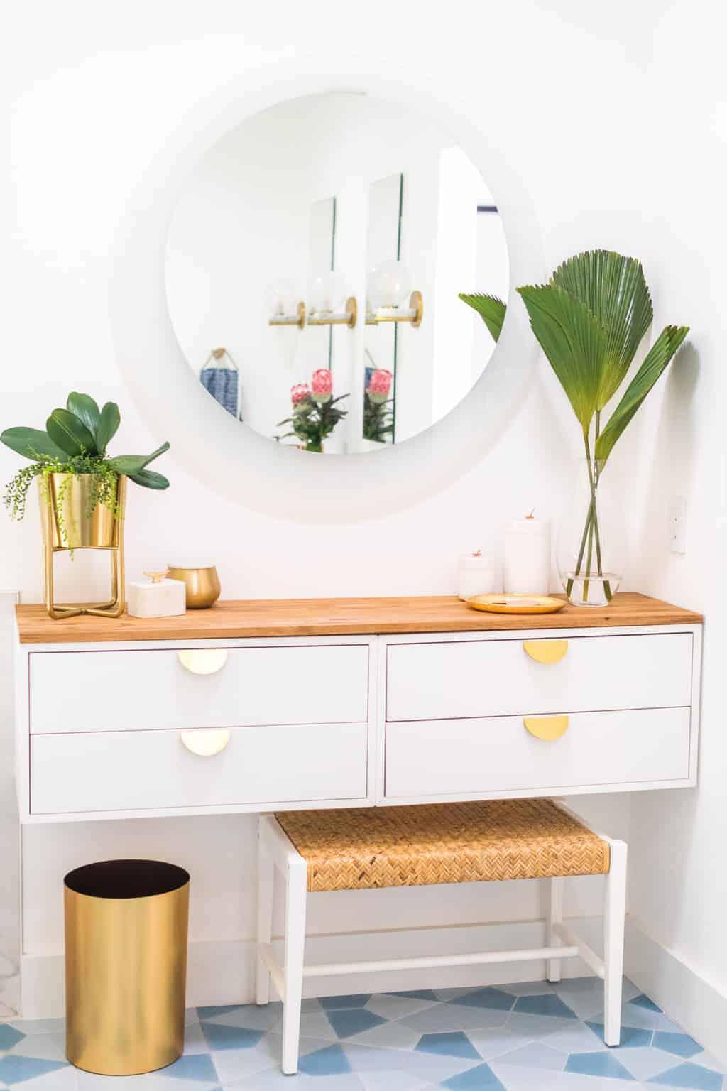 Floating vanity DIY from Sugar & Cloth