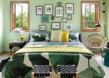 Green-makes-plenty-of-impact-in-this-colorful-and-eclectic-bedroom-40945-217x155