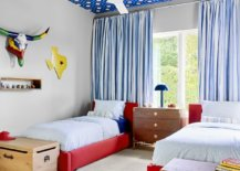 Hicks-wallpaper-for-the-ceiling-brings-brightness-to-the-fabulous-contemporary-kids-bedroom-with-red-bedframe-32678-217x155