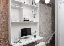 Lovely-chandelier-and-brick-walls-give-unique-appeal-to-this-small-home-workspace-in-the-hallway-93141-217x155