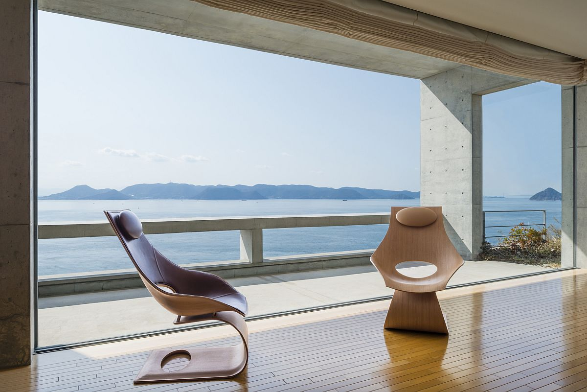 Minimal and sculptural Dream Chair designed by Tadao Ando