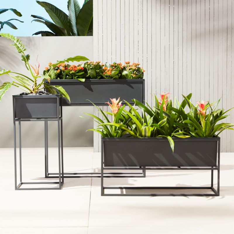 Modern outdoor planters from CB2