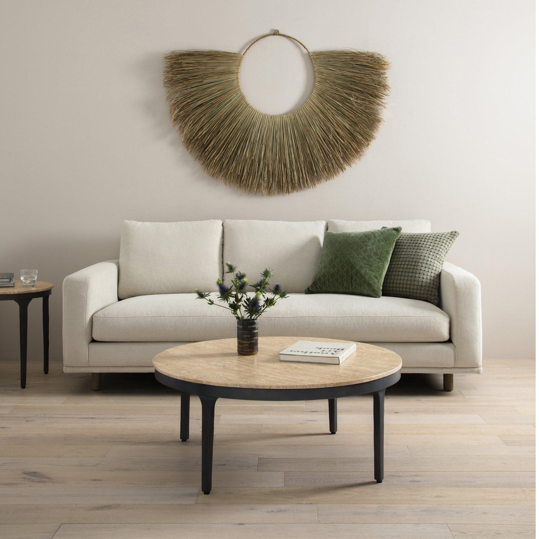 Modern palm leaf wall hanging