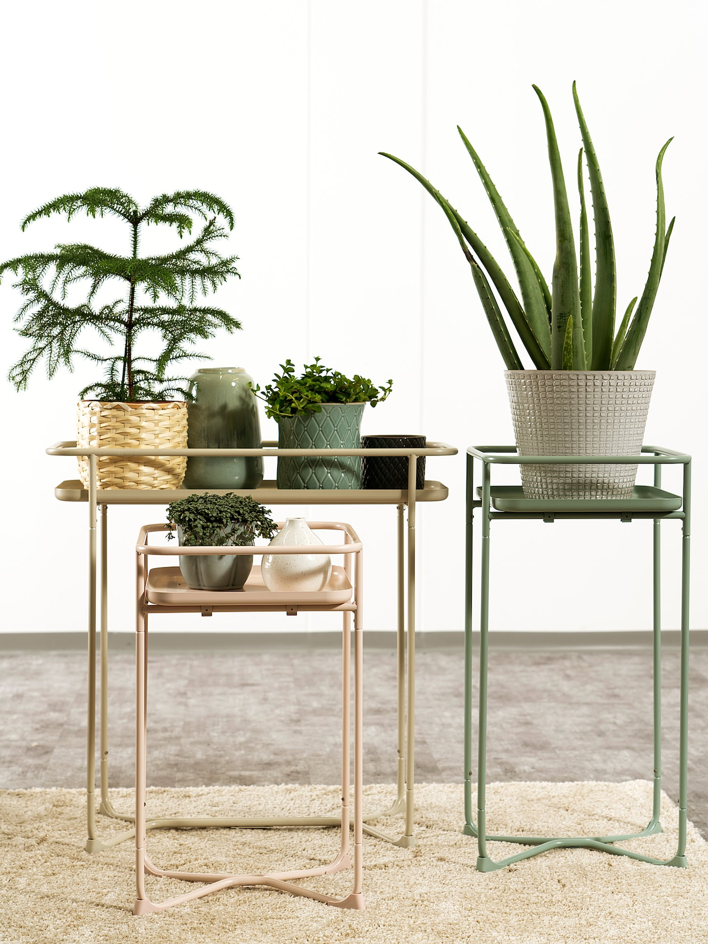 Outdoor plant stands from IKEA